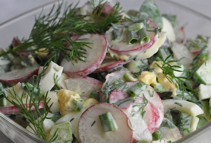 Рецепт салата с редиской фото, видео